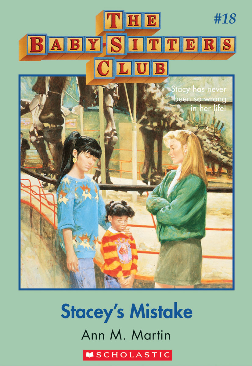 the definitive ranking of all baby sitter s club cover outfits stacey s mistake was wearing such a boring outfit in the same frame as one of claudia s iconic sweaters giant earrings and side pony