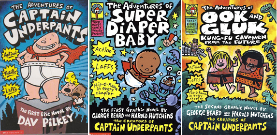 Dav Pilkey book covers