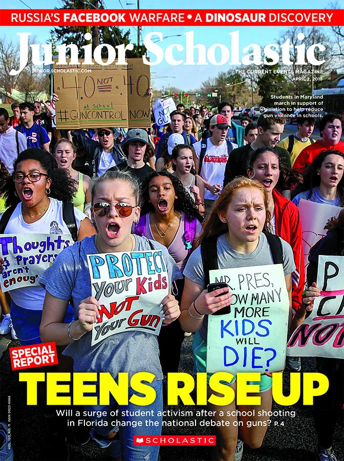 Junior Scholastic Current Events cover