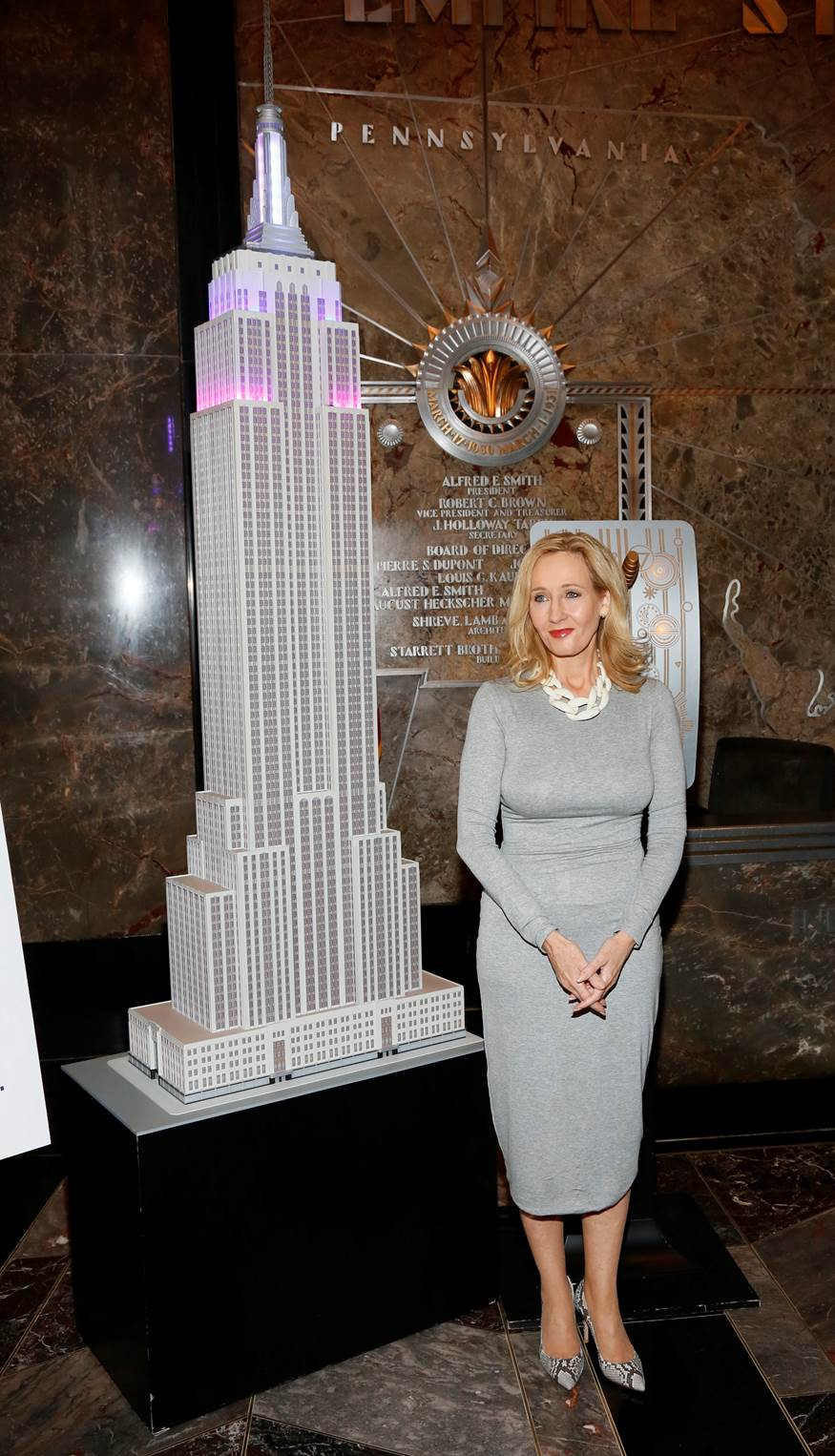 Jk Rowling Lights Up The Empire State Building To Launch Her