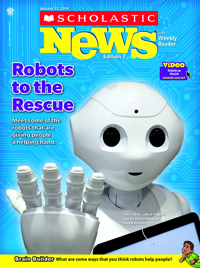 Scholastic News Weekly Reader 4 cover