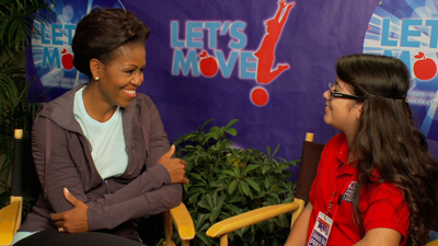 Scholastic Kids Press Corps Reporter Topanga Sena interviews First Lady Michelle