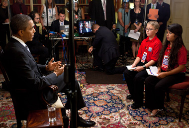 Kid Reporters interview the president